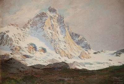 Switzerland Painting - The Matterhorn, 1910 by Leonardo Roda