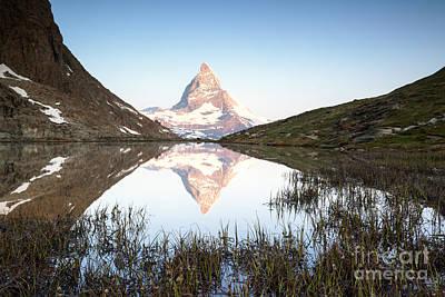 Landscape Photograph - The Matterhorn In The Mirror II by Matteo Colombo