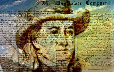 Descendant Photograph - The Mayflower Compact by Diana Angstadt