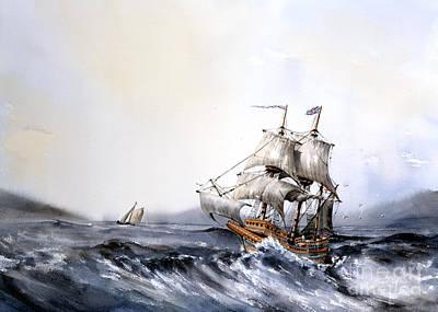 The Mayflower Print by Val Byrne