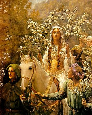 Collier Painting - The Maying Of Queen Guinevere by John Collier