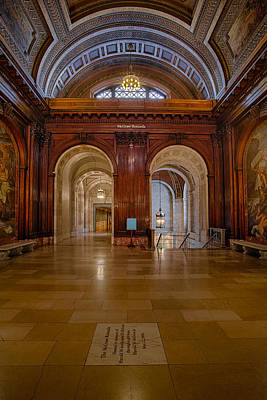 The Mcgraw Rotunda At The New York Public Library Print by Susan Candelario