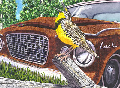 Meadowlark Painting - The Meadowlarks by Catherine G McElroy