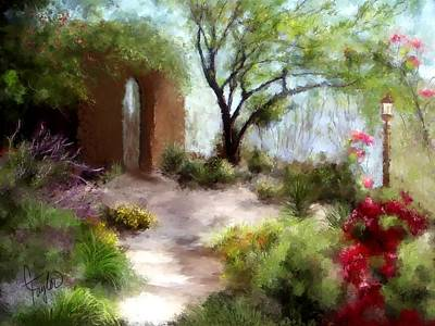 The Meditative Garden  Print by Colleen Taylor