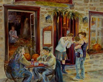 Quebec Painting - The Meeting Place by Chris Brandley