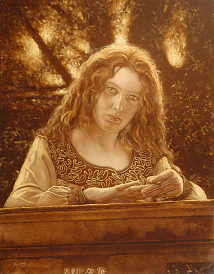 Sepia Chalk Painting - The Meeting Place by John Silver