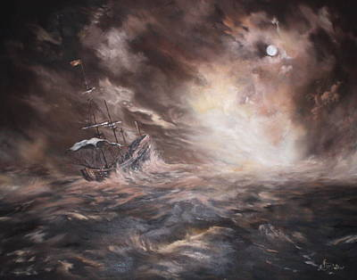 Of Pirate Ship Painting - The Merchant Royal by Jean Walker
