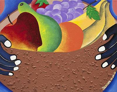 African American. Folk Art Painting - The Messenger by Patricia Sabree