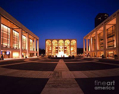 Lincoln Center Photograph - The Metropolitan Opera House by Rafael Macia