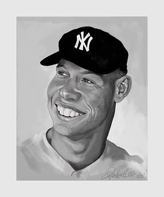 Mickey Mantle Digital Art - The Mick by Chris Ross