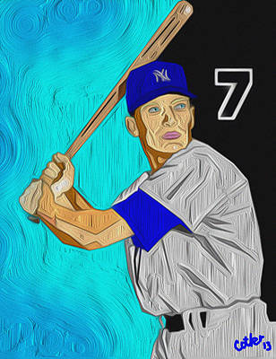Mickey Mantle Digital Art - The Mick by GR Cotler