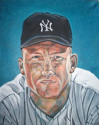 Mickey Mantle Painting - The Mick by Paul Smutylo