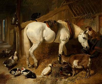 Duck Painting - The Midday Meal, 1850 by John Frederick Herring Snr