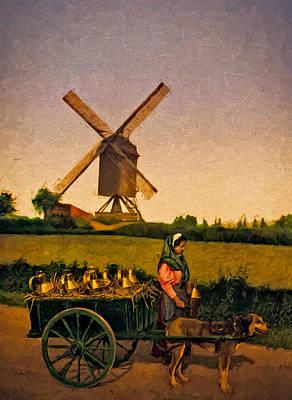Classical Painting - The Milkseller  by John K Woodruff