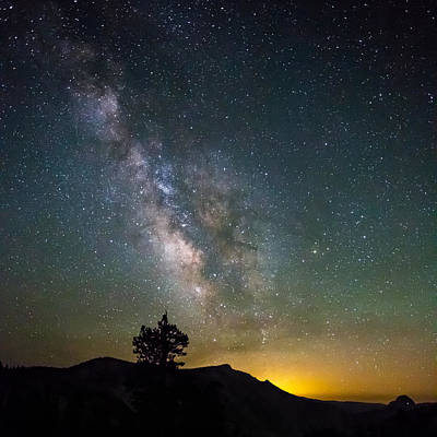 The Milky Way Meets The Aspen Fire Print by Mike Lee