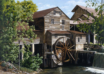 Pigeon Forge Painting - The Mill At Pigeon Forge by Marla J McCormick