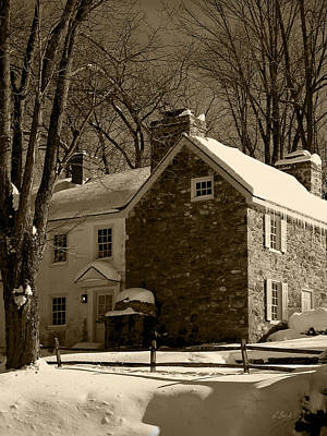 Grist Mill Photograph - The Miller's House by Gordon Beck