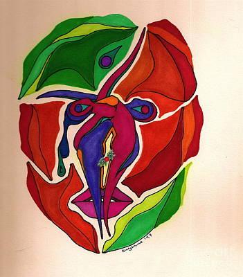 Tear Drawing - The Mind's Dance by Suzi Gessert