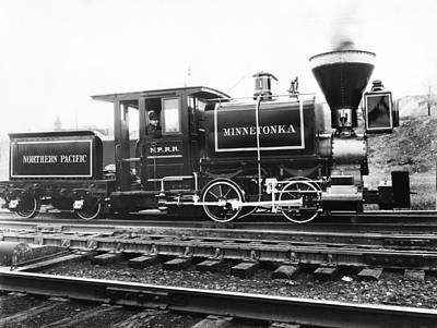 Steam Locomotive Photograph - The Minnetonka Locomotive by Underwood Archives