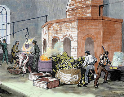 The Mint House Workers In The Smelting Print by Prisma Archivo