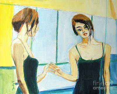 The Mirror Has Two Faces Print by Judy Kay