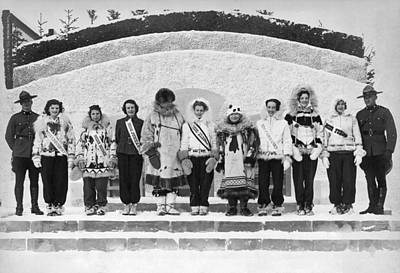 In A Row Photograph - The Miss Alaska Competition by Underwood Archives