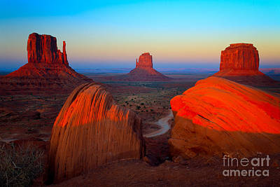 Navajo Photograph - The Mittens by Inge Johnsson