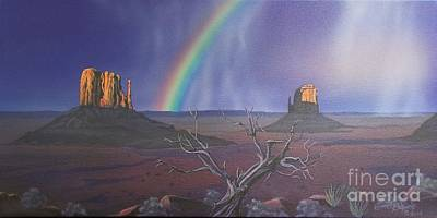 The Mittens Monument Valley Original by Jerry Bokowski