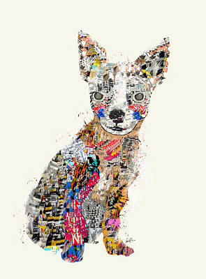 Dogs Painting - The Mod Chihuahua by Bri B