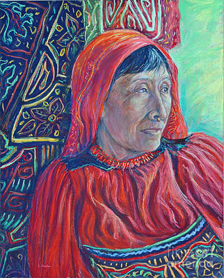 Painting - The Mola Maker by Li Newton