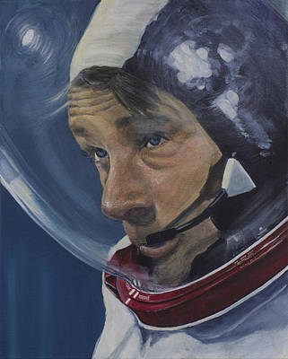 The Moment Before- Gene Cernan Print by Simon Kregar