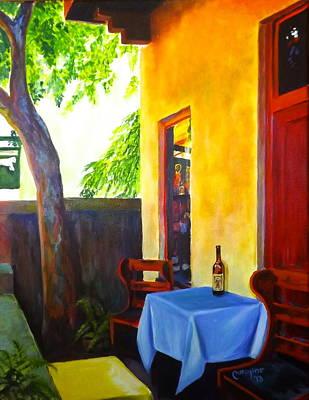 The Monk's Vineyard Original by Caroline Conkin