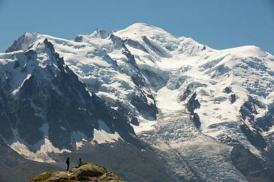 Serrated Photograph - The Mont Blanc Range Above Chamonix by Ashley Cooper