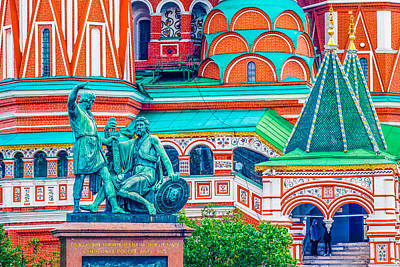 St Basils Photograph - The Monument To Minin And Pozharsky by Alexander Senin