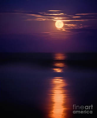 Nj Photograph - The Moon Is Just The Sun At Night by Mark Miller