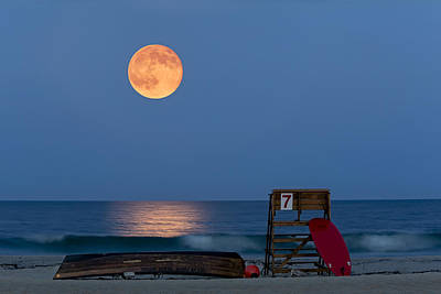 Shore Photograph - The Moon Is Yours by Susan Candelario