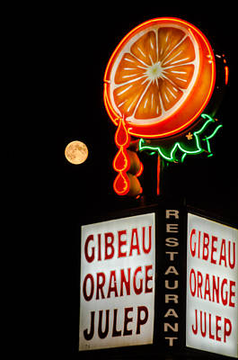 Orange Julep Photograph - The Moon Loves Orange Julep  by Martin New