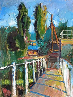 Racei Painting - The Moorage. Sergeevka. 2008 by Yuri Yudaev
