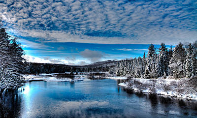 The Moose River In Early December Print by David Patterson