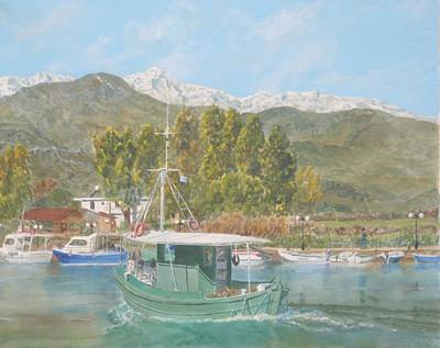 The Morning Catch Returns To Georgioupoli Crete Original by David Capon