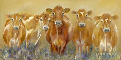 Cow Painting - The Morning Moo by Catherine Davis