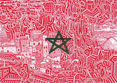 Rabat Drawing - The Morocco by Daisuke Okamoto