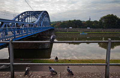 Angling Photograph - The Most Pilsudskiego Bridge by Panoramic Images