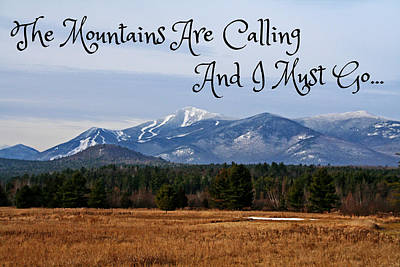 Adirondack Photograph - The Mountains Are Calling by Heather Allen