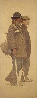 Crutch Photograph - The Mouthful Of Bread, Study For Charity, 1892-1908 Oil On Canvas by Fernand Pelez