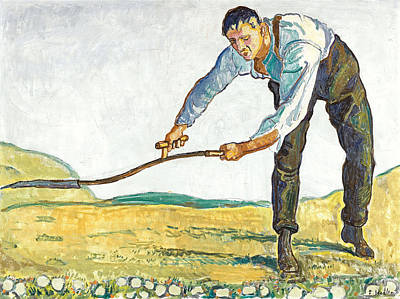 Ferdinand Hodler Painting - The Mower by Ferdinand Hodler