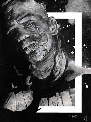 Boris Drawing - The Mummy by Sean Parnell