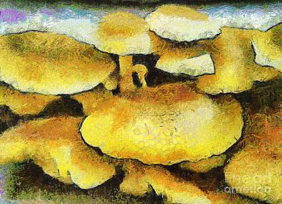 The Mushroom Family Print by Odon Czintos