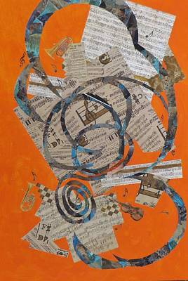 Representative Abstract Painting - The Music Goes Round And Round by David Raderstorf