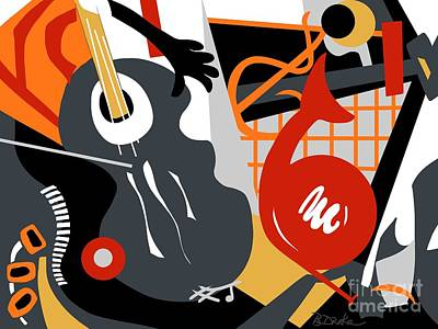 The Music Room Print by Barbara Drake